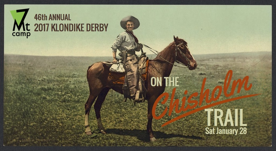 7MC Klondike Derby Promo: Detroit Photographic Co. A Cowboy. [Between 1898 and 1905] Image. Retrieved from the Library of Congress, https://www.loc.gov/item/2008678055/.